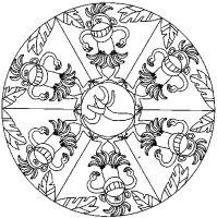 Coloriage Mandala Monstre.Mes Coloriages A Imprimer Pour Enfants Mandalas